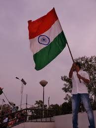 The Flag Of India Pride Of India Flag Waved On Indian Side At Wagah Border Ceremony