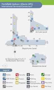atlanta international airport map travelnerd international terminal concourse f