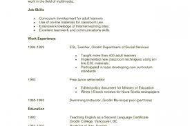 Esl Teacher Resume Examples by Swim Instructor Resume Examples Reentrycorps