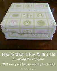 wrapping boxes how to wrap a box with a lid an oregon cottage