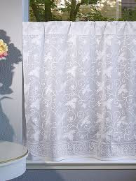 Country Lace Curtains Catalog White Floral Tier Curtain Country Kitchen Tier Curtains Kitchen