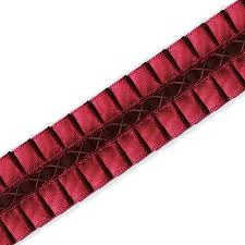 pleated ribbon pleated ribbon with velvet by yd see 6z31 13