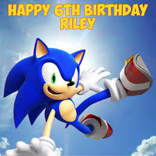 sonic cake topper sonic the hedgehog personalised edible square birthday cake topper