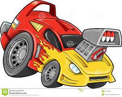 cartoon race car race car street car vehicle vector royalty free stock images