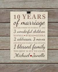 10 years anniversary gift wedding anniversary gifts for him paper canvas 10 year