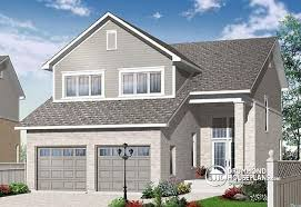 house plans for narrow lots with garage house plan w3889 detail from drummondhouseplans