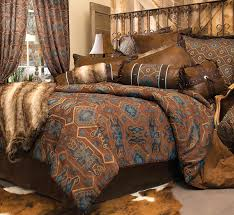 Blue And Brown Bedroom Set Western Bedding Turquoise Mesa Bedding Collection Lone Star