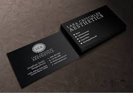modern elegant business card design for lca by creations box 2015