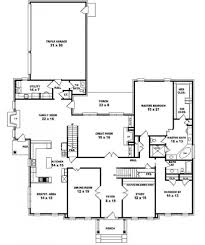 5 bedroom one house plans awesome 5 bedroom one floor plans collection with layout ideas