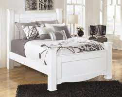Ashley Furniture White Bedroom Weeki Queen Poster Rails B270 98 Bed Frames The Furniture