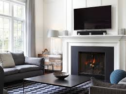 stupendous fireplace surround by windows cottage living room