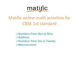 standard one maths cbse math for 1st standard from matific