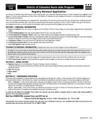 fillable online doh dc nursing cna registry renewal application