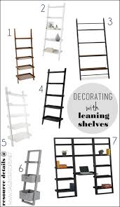 Ladder Bookcase Plans by Furniture Decorating With Leaning Ladder Shelves Jenna Burger