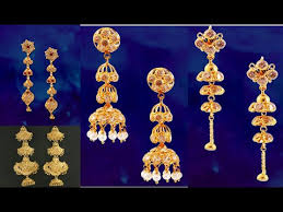 top 10 three gold ear ring designs