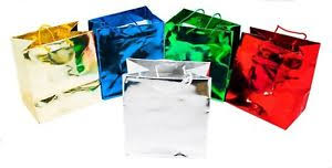 metallic gift bags novel box metallic glossy tote paper gift bag bundle 20 pack