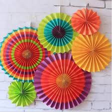 paper fan decorations 6 pcs paper fan hanging decorations home birthday wedding