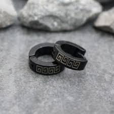 black earrings for guys shop small black hoop earrings on wanelo