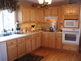 kitchen with oak kitchen cabinet hardware ideas and tile