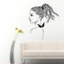 aliexpress com buy wall decals girl hair braiding salon vinyl aliexpress com buy wall decals girl hair braiding salon vinyl sticker beauty salon decor art from reliable decoration art suppliers on homely