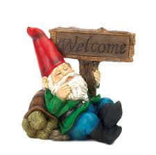 welcome gnome solar statue wholesale at koehler home decor welcome gnome solar statue