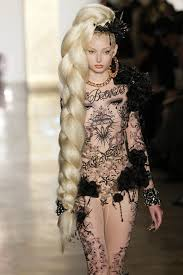 runway hair extensions the blonds nyfw show uses braids spells name in hair