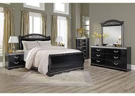 sleigh bedroom set queen buy constellations black queen sleigh bed brooklyn furniture store