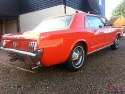 1966 ford mustang straight six manual orange