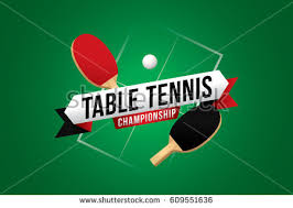 Table Tennis Championship Table Tennis Championship Design Green Table Stock Vector