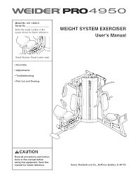 weider home gyms pro 4950 14623 pdf owner u0027s manual free download
