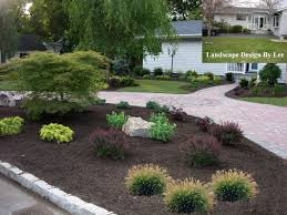 landscape designs for house with circular driveway landscape