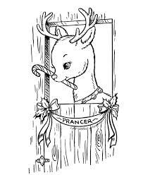 bluebonkers reindeer coloring pages 6 santa u0027s