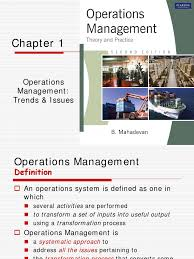 1 operations management operations management supply chain