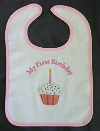 1st birthday bib 1st birthday bib with cupcake