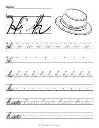 cursive writing worksheets loopy letters education writing