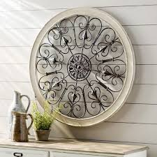Iron Wrought Wall Decor White Round Wrought Iron Wall Decor Rustic Scroll Antique Vintage