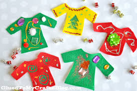 felt ugly christmas sweater kid craft glued to my crafts