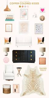 copper room decor get the look copper lay lay decorating and babies