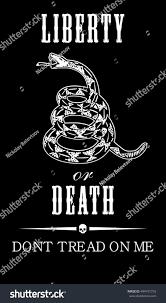 Don T Tread On Me Flag Origin Vector Gadsden Flag Depicting Rattlesnake Coiled Stock Vector