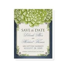 online save the dates rustic succulent garden navy save the date cards online at