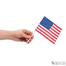 Image Of Hawaiian Flag Small Plastic American Flags