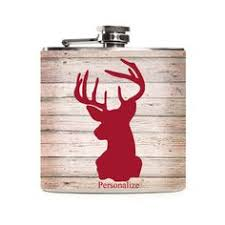 Wooden Flasks White Wood Flask Deer Head Pink Wooden Hunting Gifts For Women