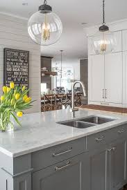 what color countertops go with light grey cabinets gray and white color in kitchen marble kitchen island