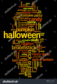 free halloween background for word halloween word cloud vector on black stock vector 152638868