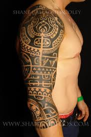 the rocks polynesian half sleeve tattoo in 2017 real photo