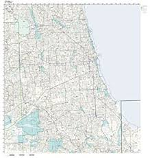 chicago zip code map chicago il 50 mile city wall maps kappa map
