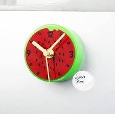 horloges cuisine pastorale fruits pastèque réfrigérateur aimant horloges cuisine