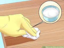how to get stains out of wood 12 steps with pictures wikihow