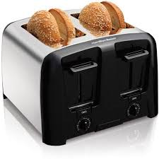 Toaster With Clear Sides Hamilton Beach Cool Wall 4 Slice Toaster Model 24614z Walmart Com
