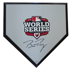 autograph plate buster posey signed 2012 world series baseball home plate base mlb